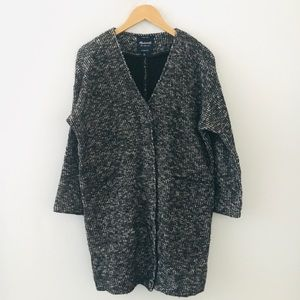 Madewell Knit Longline Sweater Snap Front Jacket